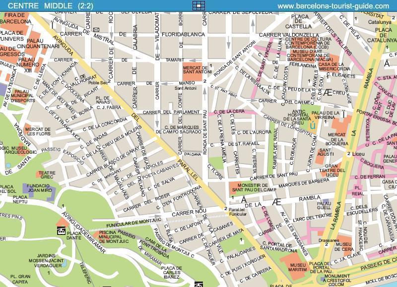 Ak Barcelona Street Map