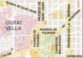Map 9f Spain.Barcelona Street Map