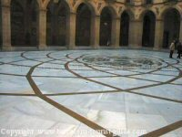 Basilica floor in Montserrat - modelled after the Vatican floor in Rome