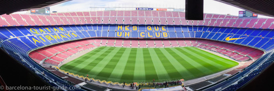 Camp Nou football stadium