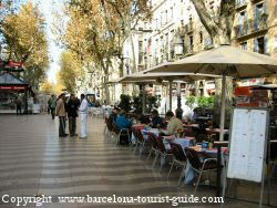 Barcelona Ramblas - one of the many cafe/bars along the Ramblas in Barcelona