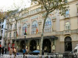 Liceu Theatre on the Ramblas in Barcelona, Spain