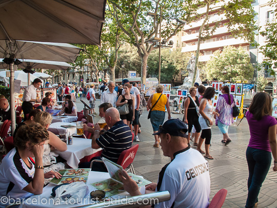 Eating out on Las Ramblas