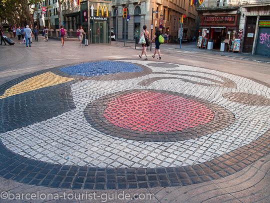 Barcelona Miró mosaic on La Rambla