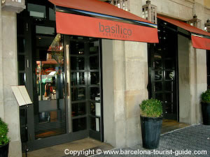 Basilico Restaurant in Barcelona
