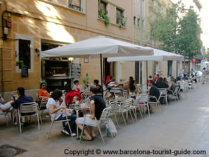 Small Rambla called Carrer Blai with Bar Ramon 28-30
