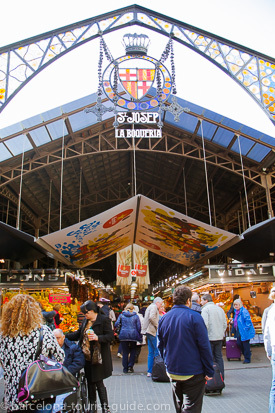 Boqueria market on the Ramblas