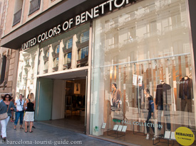 Boutique United Colors of Benetton à Avenida del Portal De L'Angel