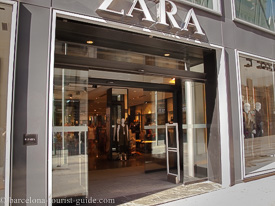 Zara store on avenida del portal de L'Angel