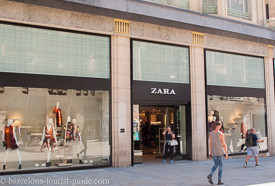 Zara Store at Avenida Del Portal De L'Angel