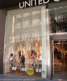 benetton shops in avenida diagonal