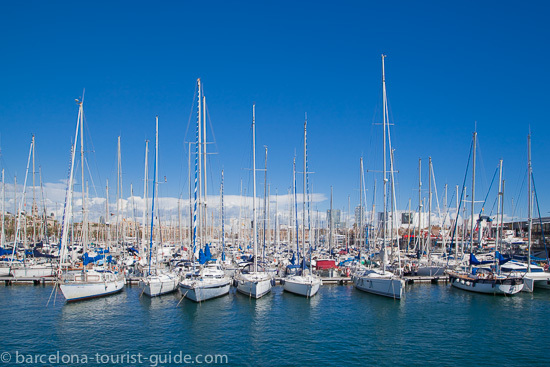 Picturesque view of Port Vell Marina near the Maremagnum centre.