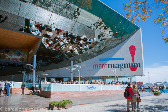 Entrance to Maremagnum centre