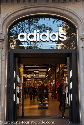 Adidas Shops in Barcelona, Spain