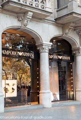 e558ae5e7749f Loja Emporio Armani em Passeig de Gràcia