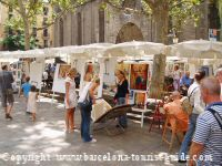 Art market in Barcelona