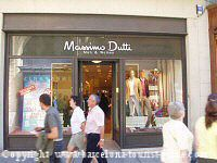 Massimo Dutti clothes shop in Barcelona