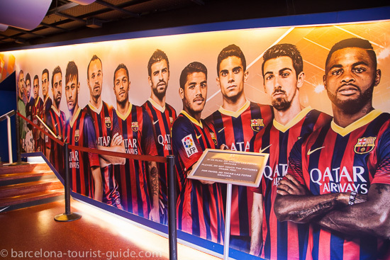 Barcelona FC football players wall display