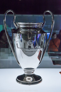 One of many Barcelona FC trophies on display
