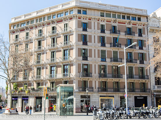 Area around Alexandra Hotel Barcelona