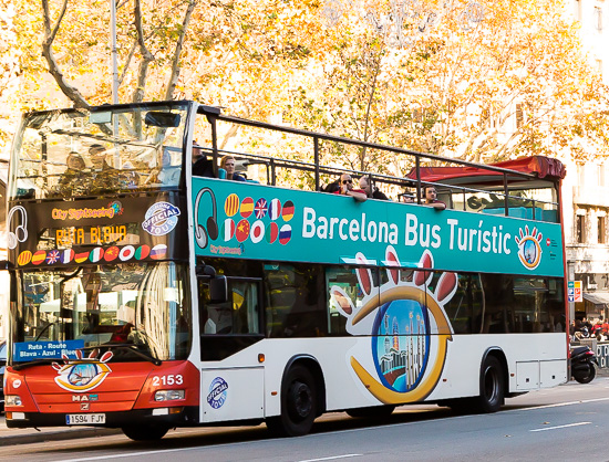 The hop on hop off sightseeing bus Bus Turistic