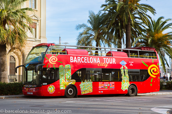 Barcelona hop on hop off sightseeing bus