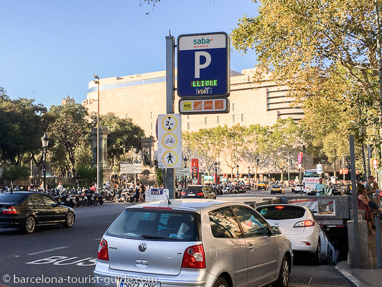 SABA Placa Catalunya car park entrance