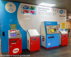 Hola Barcelona ticket machines