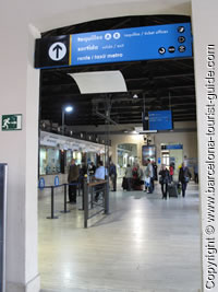 Ticket Halls A and B at Barcelona Nord