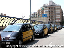 The Taxi Rank outside Estació Nord Barcelona Bus Station