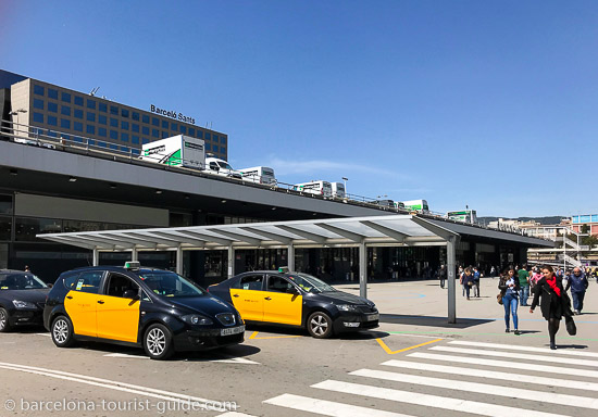 Taxis at Barcelona Sants station