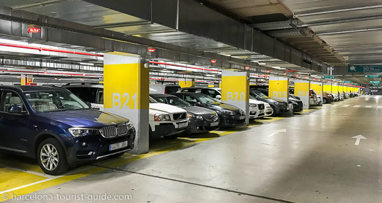 Secured car parking in Barcelona Sants station