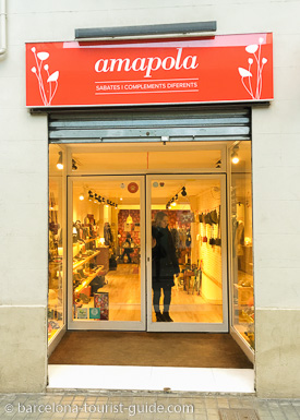 Amapola Vegan Clothes Shop in Barcelona, Catalunya, Spain